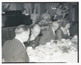 Group of people dining at event