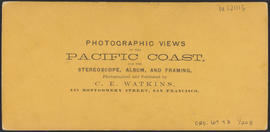 "Verso of, ""Machine Shop, O.S.N. Co's, Dalles City: Columbia River."" (Stereograph 1308)"