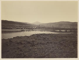 """Dalles City from Rockland. W.T. Columbia River."" (Mammoth 448)"
