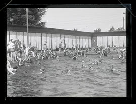 Swimmers at Sellwood Park pool, Portland