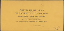 "Verso of, ""Castle Rock, Columbia River."" (Stereograph 1247)"