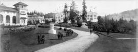 Footpath on grounds of Lewis and Clark Centennial Exposition, Portland, Oregon, 1905