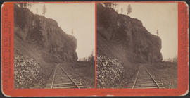 """Oneonta Bluffs, Columbia River Scenery, Oregon."" (Stereograph E9)"