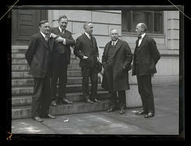 Prohibition agents Fred B. Curry, Johnson S. Smith, J. E. Flanders, S. F. Rutter, and J. P. Marst...
