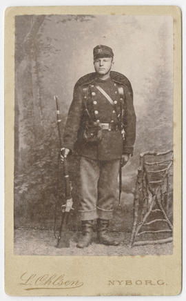 Unidentified man in military uniform
