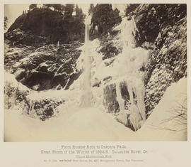 """D.128. From Rooster Rock to Oneonta Falls. Upper Multnomah Fall."""