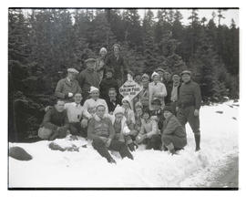 Group at summit of Barlow Pass