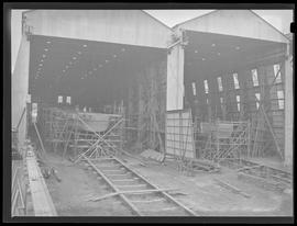 Ships being built in warehouses at Commercial Iron Works, Portland