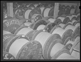 Spools of cable at Commercial Iron Works, Portland