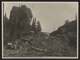 Railroad Construction near Carson, Washington
