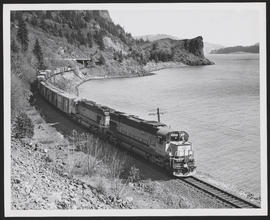 SP&S Train Traveling Along the Columbia River