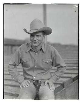 Alvin Gordon, three-quarters portrait, probably at Pacific International Livestock Exposition