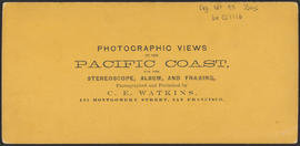 "Verso of, ""O.S.N. Co's Office, Dalles City, Columbia River."" (Stereograph 1309)"