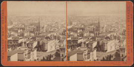 """View from the Residence of Chas. Crocker, Esq., S. F. California St."" (Stereograph 3642)"