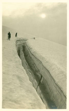 Crevasse on Collier Glacier, Middle Sister, elevation 8000