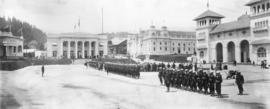 Military drill in Pacific Court, Lewis and Clark Centennial Exposition, 1905