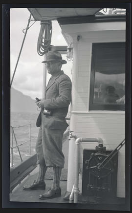 William Finley on the deck of the MV Westward