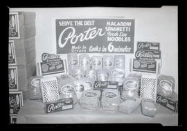 Display of Porter pasta products