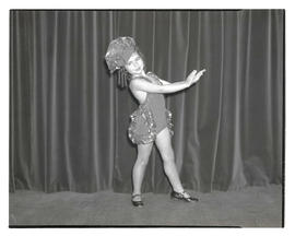 Young tap dancer in costume
