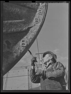 Dry-dock worker at Port of Portland