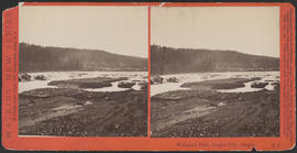 """Willamette Falls, Oregon City, Oregon."" (Stereograph E1)"