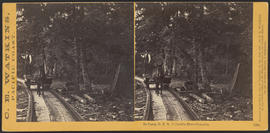 """In Camp, O.R.R. Columbia River Cascades."" (Stereograph 1288)"