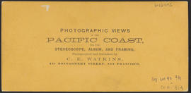 "Verso of, ""Mc ____ Lower Cascades, C. R."" (Stereograph 1337)"