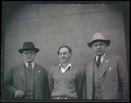 Gale Lawson and two unidentified men