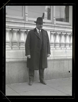Unidentified man, full-length portrait
