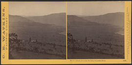"""Mount Adams from Sun Set Hill, Columbia River."" (Stereograph 1319)"