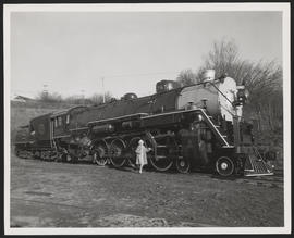 Woman Posing in Front of Great Northern Engine #2507