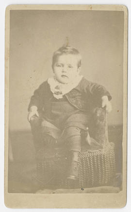 Portrait of an unidentified young boy from J. E. Eldredge Studio