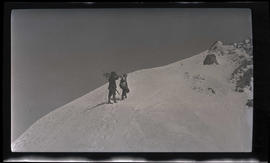 Men near the summit of Mount Hood