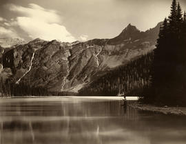 Fishing in Avalanche Lake, Montana, circa 1910