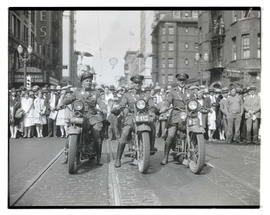 Three motorcycle troopers at Portland parade