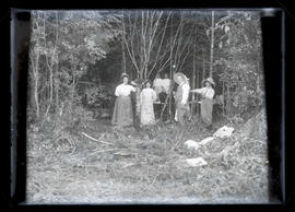 Unidentified group in forest