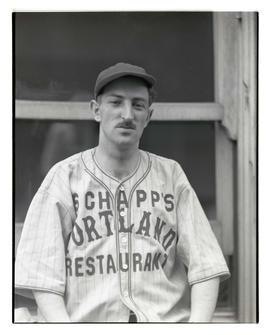 Baseball player for Schapp's Restaurant
