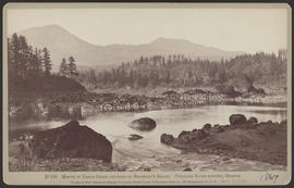 """D156. Mouth of Eagle Creek and head of Bradford's Island. Columbia River scenery, Oregon.&q..."