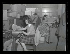 Office workers at Albina Engine & Machine Works, Portland