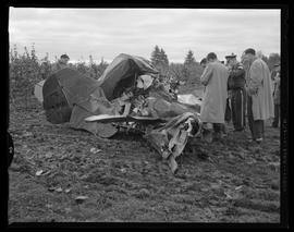 Wreckage of Plane Crash