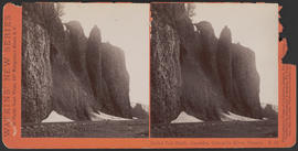 """Bridal Veil Bluffs, Cascades, Columbia River, Oregon"" (Stereograph E33)"