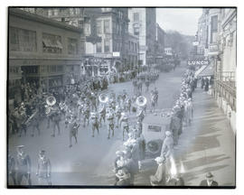 Band marching in Portland parade