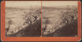 """Lower End of the Locks, Upper Cascades, Oregon."" (Stereograph E53)"