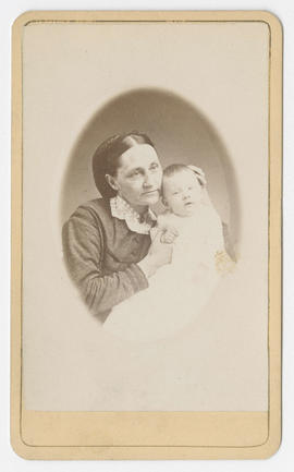 Denny H. Hendee portrait of an unidentified woman and baby