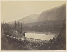 """Ruins of the High Bridge, Middle Block House, Cascades."" (Mammoth 434)"