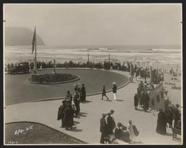 People on the Promenade in Seaside, Oregon