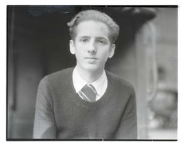 Unidentified teenage boy, head and shoulders portrait