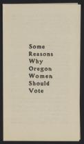 Some Reasons Why Oregon Women Should Vote