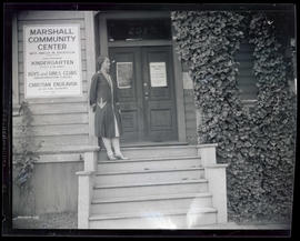 Amelia Anderson outside Marshall Street Community Center, Portland