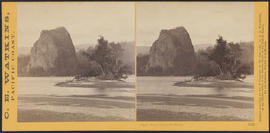 """Castle Rock, Columbia River."" (Stereograph 1245)"